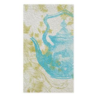 Flores azules del pote del té del vintage tarjetas de visita