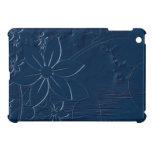 Flores azules en un fondo azul iPad mini coberturas