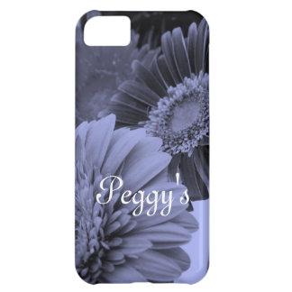 Flores azules funda para iPhone 5C
