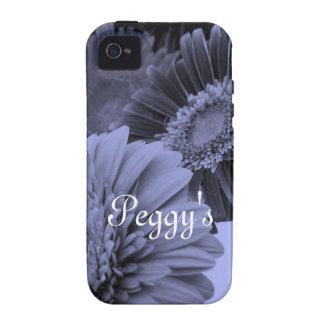 Flores azules iPhone 4 funda