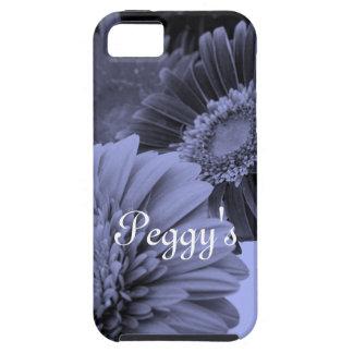 Flores azules iPhone 5 carcasas
