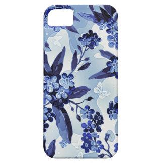 Flores azules funda para iPhone SE/5/5s
