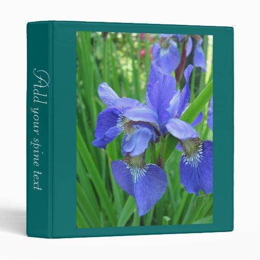 flores azules hermosas del iris