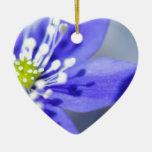 Flores azules hermosas ornamentos para reyes magos