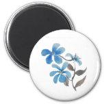 Flores azules imán