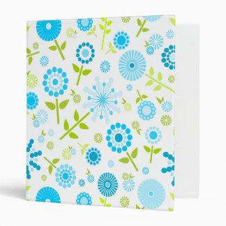 "Flores azules lindas de la primavera carpeta 1"""