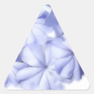 Flores azules calcomania triangulo personalizadas