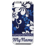 Flores azules personalizadas de Hawaii iPhone 5 Case-Mate Coberturas