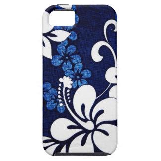 Flores azules personalizadas de Hawaii iPhone 5 Carcasas