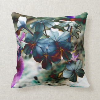 Flores azules polvorientas del grafito cojín