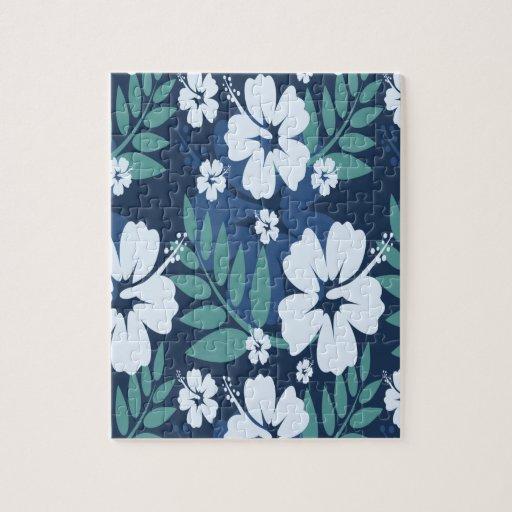Flores azules rompecabeza con fotos