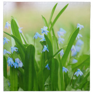 Flores azules servilletas