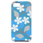 Flores azules y blancas. Modelo floral iPhone 5 Fundas