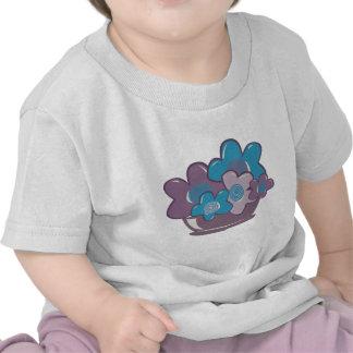 Flores azules y púrpuras camiseta