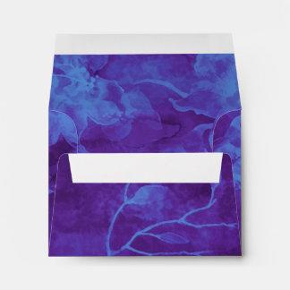 Flores azules y púrpuras de RSVP de la acuarela Sobre