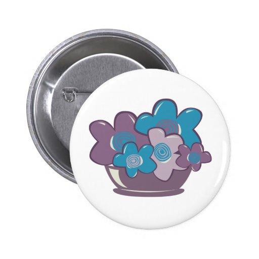 Flores azules y púrpuras pin