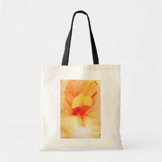 flores barbudas amarillas de la belleza bolsa de mano