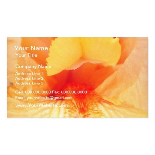 flores barbudas amarillas de la belleza tarjetas personales