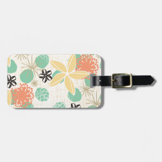 Flores-Beige Tag For Luggage