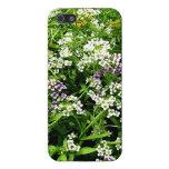 Flores blancas, amarillas y de la lavanda iPhone 5 protectores