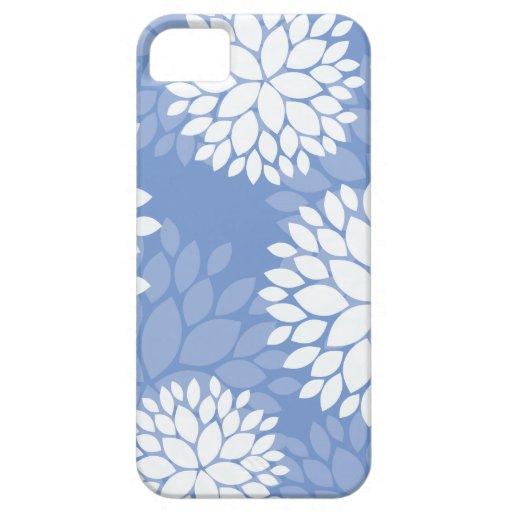 Flores blancas azules iPhone 5 funda