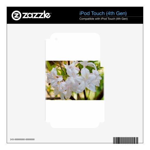 Flores blancas bonitas iPod touch 4G calcomanía