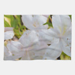 Flores blancas bonitas toalla de cocina