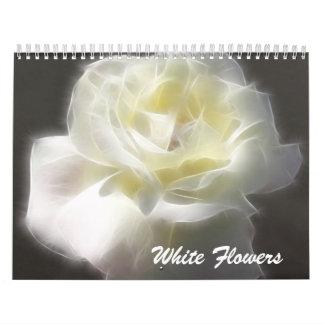 Flores blancas calendarios
