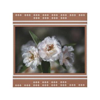 Flores blancas de Crabapple del diseñador por Lona Estirada Galerías