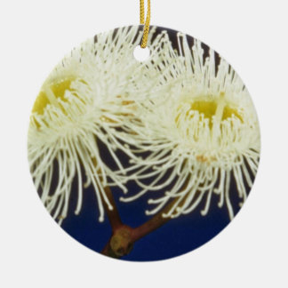 flores blancas de la caoba del pantano eucalipto ornaments para arbol de navidad