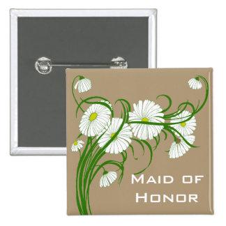Flores blancas de la margarita de Gerber del Pin