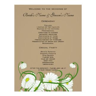 Flores blancas de la margarita de Gerber del vinta Flyer A Todo Color