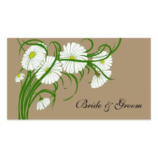 Flores blancas de la margarita de Gerber del vinta Plantillas De Tarjetas Personales