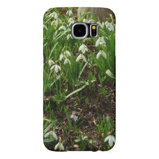 Flores blancas de la primavera de Snowdrops II Funda Samsung Galaxy S6