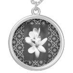 Flores blancas de las Collar-Flores-