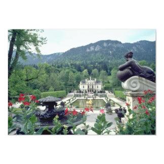 Flores blancas de Linderhof del castillo Invitación 12,7 X 17,8 Cm