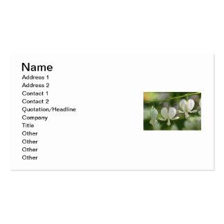 Flores blancas de los corazones sangrantes tarjeta de negocio