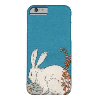 Flores blancas del conejo del vintage elegante funda de iPhone 6 barely there