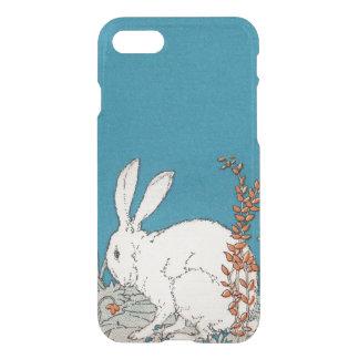 Flores blancas del conejo del vintage elegante funda para iPhone 7