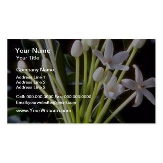 flores blancas del floribunda del Stephanotis Tarjeta De Negocio