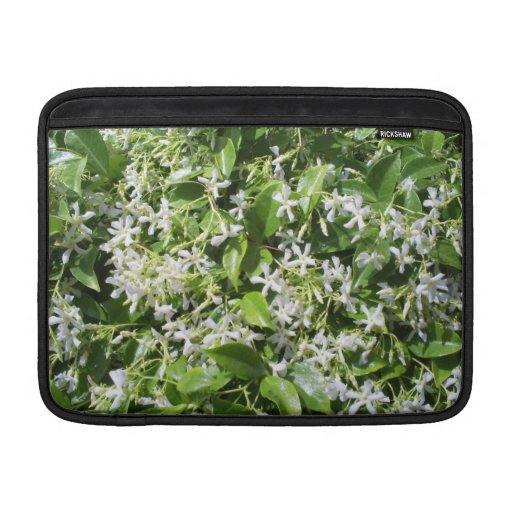 Flores blancas del jazmín funda para macbook air