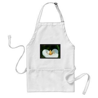 Flores blancas del lirio de Cala Delantal