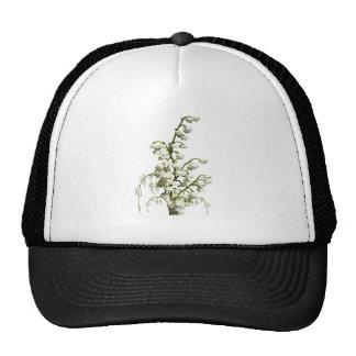 Flores blancas del lirio de los valles gorras