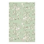 Flores blancas del vintage del flor hermoso del ár papeleria de diseño