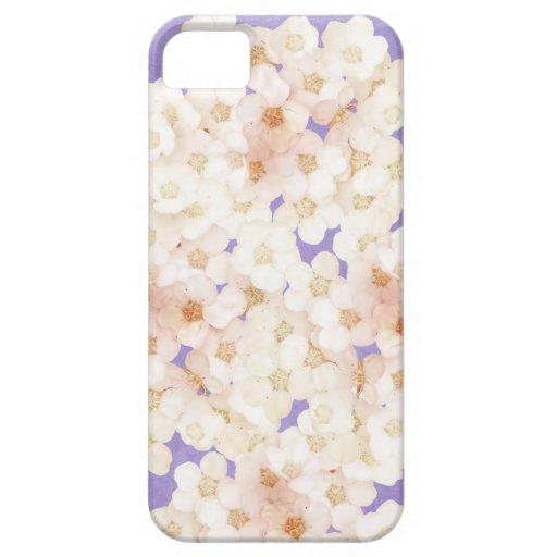 flores blancas delicadas iPhone 5 coberturas