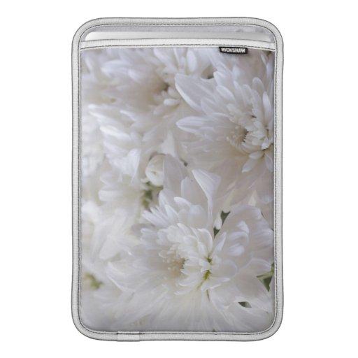 Flores blancas elegantes funda para macbook air