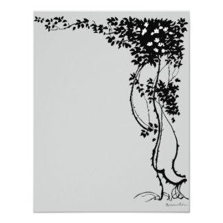 """¡Flores blancas en una tarjeta de RSVP del arte Invitación 4.25"""" X 5.5"""""""