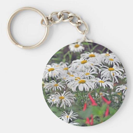 flores blancas finales llaveros personalizados