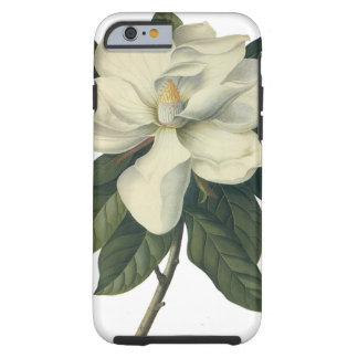 Flores blancas florecientes del flor de la funda resistente iPhone 6