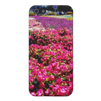 Flores blancas, flores cuadradas de Wencelas iPhone 5 Coberturas